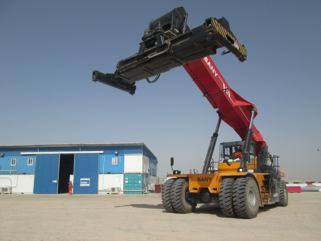 View of Industrial facility incl Reachstacker