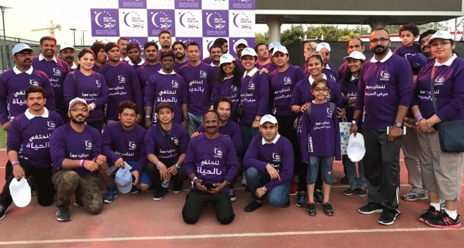 "Gulftainer team at ""Relay for Life"""